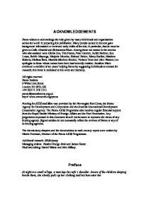 ACKNOWLEDGEMENTS. Preface