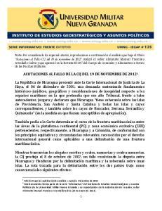 ACOTACIONES AL FALLO DE LA CIJ DEL 19 DE NOVIEMBRE DE