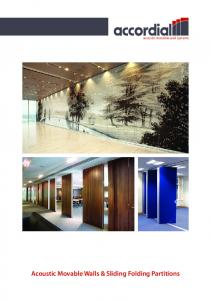 Acoustic Movable Walls & Sliding Folding Partitions