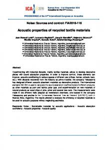 Acoustic properties of recycled textile materials