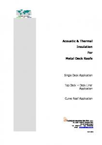 Acoustic & Thermal Insulation For Metal Deck Roofs