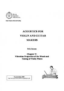 ACOUSTICS FOR VIOLIN AND GUITAR MAKERS