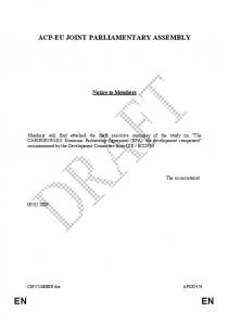 ACP-EU JOINT PARLIAMENTARY ASSEMBLY