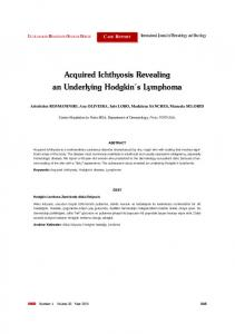 Acquired Ichthyosis Revealing an Underlying Hodgkin s Lymphoma