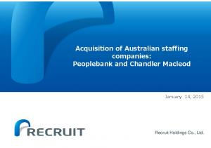 Acquisition of Australian staffing companies: Peoplebank and Chandler Macleod