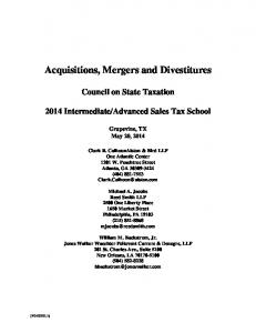 Acquisitions, Mergers and Divestitures