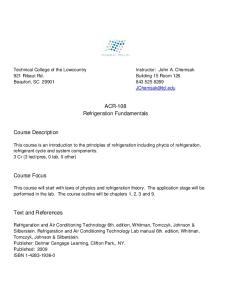 ACR-108 Refrigeration Fundamentals