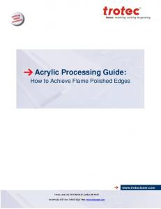 Acrylic Processing Guide: