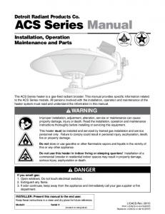 ACS Series Manual WARNING