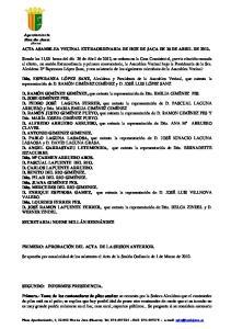 ACTA ASAMBLEA VECINAL EXTRAORDINARIA DE HOZ DE JACA DE 26 DE ABRIL DE 2012