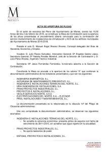 ACTA DE APERTURA DE PLICAS