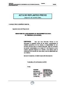 ACTA DE REPLANTEO PREVIO