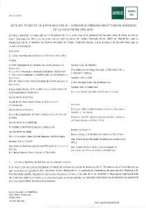 ACTA DEL PLENO DE LA JUNTA RECTORA DEL CONSORCIO UNIVERSITARIO
