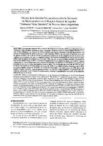 Acta Farnl. Boriuet.c.nse 18 (2): (1999) Recibido el 29 de enero de 1999 Aceptado el 21 de abril de 1999