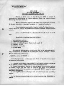 ACTA N 92 SESION ORDINARIA CONCEJO MUNICIPAL DE ANTUCO