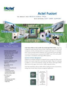 Actel Fusion. Key Fusion Features SUPPORT