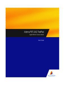 Acterna FST-2802 TestPad