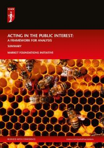 ACTING IN THE PUBLIC INTEREST: