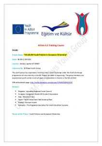 Action 4.3 Training Course