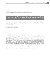 Action of vitamin K on bone health
