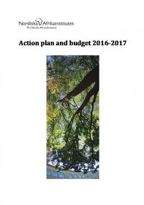 Action plan and budget