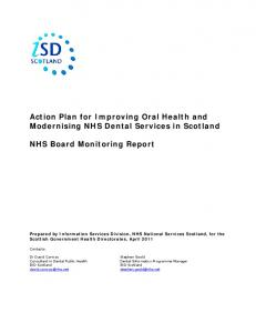Action Plan for Improving Oral Health and Modernising NHS Dental Services in Scotland