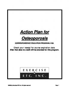 Action Plan for Osteoporosis