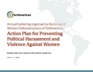 Action Plan for Preventing Political Harassment and Violence Against Women