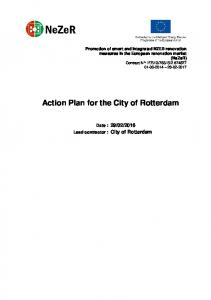 Action Plan for the City of Rotterdam