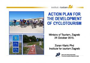 ACTION PLAN FOR THE DEVELOPMENT OF CYCLOTOURISM