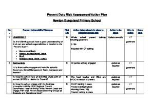 Action Plan. Newton Burgoland Primary School