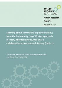 Action Research Report. November 2016