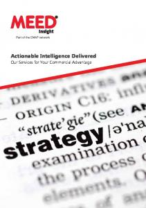 Actionable Intelligence Delivered. Our Services for Your Commercial Advantage