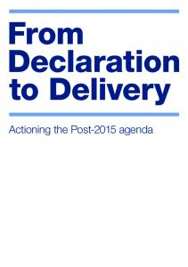 Actioning the Post-2015 agenda