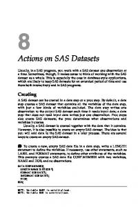Actions on SAS Datasets
