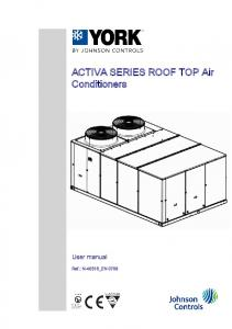 ACTIVA SERIES ROOF TOP Air Conditioners