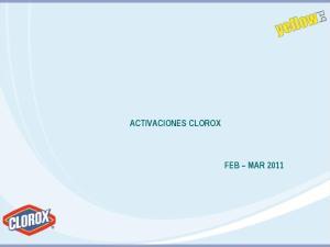 ACTIVACIONES CLOROX FEB MAR 2011