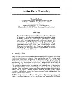 Active Data Clustering