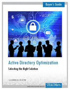 Active Directory Optimization. Buyer s Guide. Selecting the Right Solution