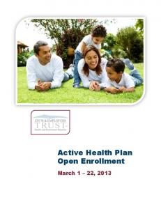 Active Health Plan Open Enrollment