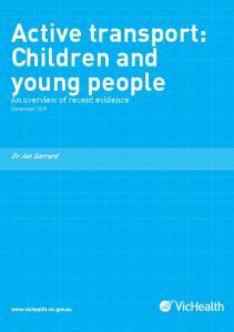 Active transport: Children and young people