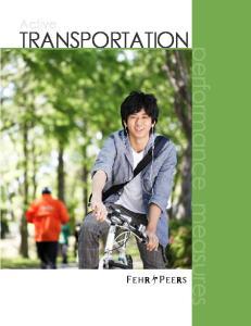 Active TRANSPORTATION. performance measures
