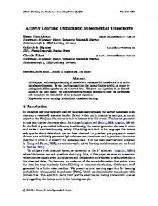 Actively Learning Probabilistic Subsequential Transducers