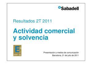 Actividad comercial y solvencia