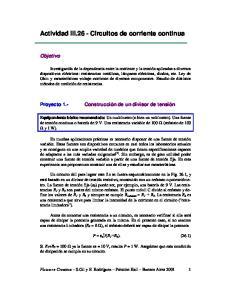 Actividad III.26 - Circuitos de corriente continua