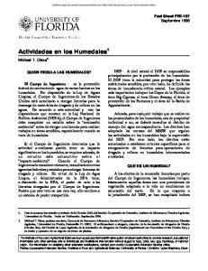 Actividades en los Humedales 1