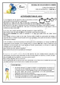 ACTIVIDADES PARA EL AULA