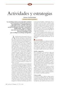 Actividades y estrategias