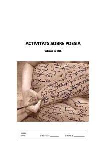 ACTIVITATS SOBRE POESIA