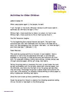 Activities for Older Children